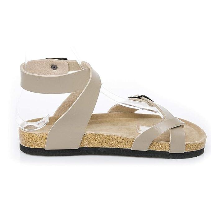 Covermason Zapatos Sandalias planas mujer verano 2018, punta casuales para mujer: Amazon.es: Ropa y accesorios