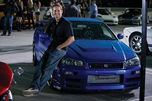 Paul Walker - Fast and Furious Movie Poster NO TEXT (24 x 36