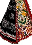 Fashions Trendz Indian Hand Block Printed Cotton MUL Sarees for Women Wedding Designer Party Wear Traditional Black Sari.