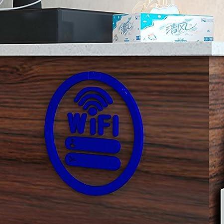 Hongrun El icono de wifi acrílico cristal de pared-dulce de leche tea shop paredes están decoradas de una forma creativa carteles 250*250 mm: Amazon.es: ...