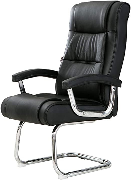 Modern Office Home Study Work Chair PU Leather High Back Chrome Cantilever Base