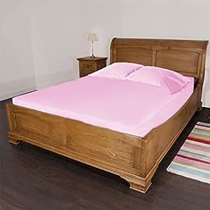 SCALABEDDING 100% algodón egipcio de 500hilos sólido 18pulgada bolsillo profundo sábana ajustable tamaño Queen rosa