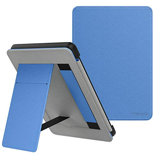 MoKo Case Fits Kindle Paperwhite (10th Generation, 2018 Releases), Lightweight PU Leather Cover Stand Shell with Hand Strap for Amazon Kindle Paperwhite 2018 E-Reader