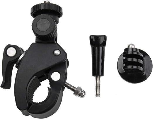 ZBDuDu Soporte para Manillar de Bicicleta para Motocicleta con trípode y Tornillo para GoPro Xiaoyi y Otras cámaras de acción (Negro): Amazon.es: Hogar