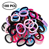 fixbody Hair Band Ties for Kids, Elastic Cotton Seamless 8MM Thick Hair No-Damage Band Ponytail Holders Scrunchie Perfectly for Girls & Ladies by FIXBODY (Multi)