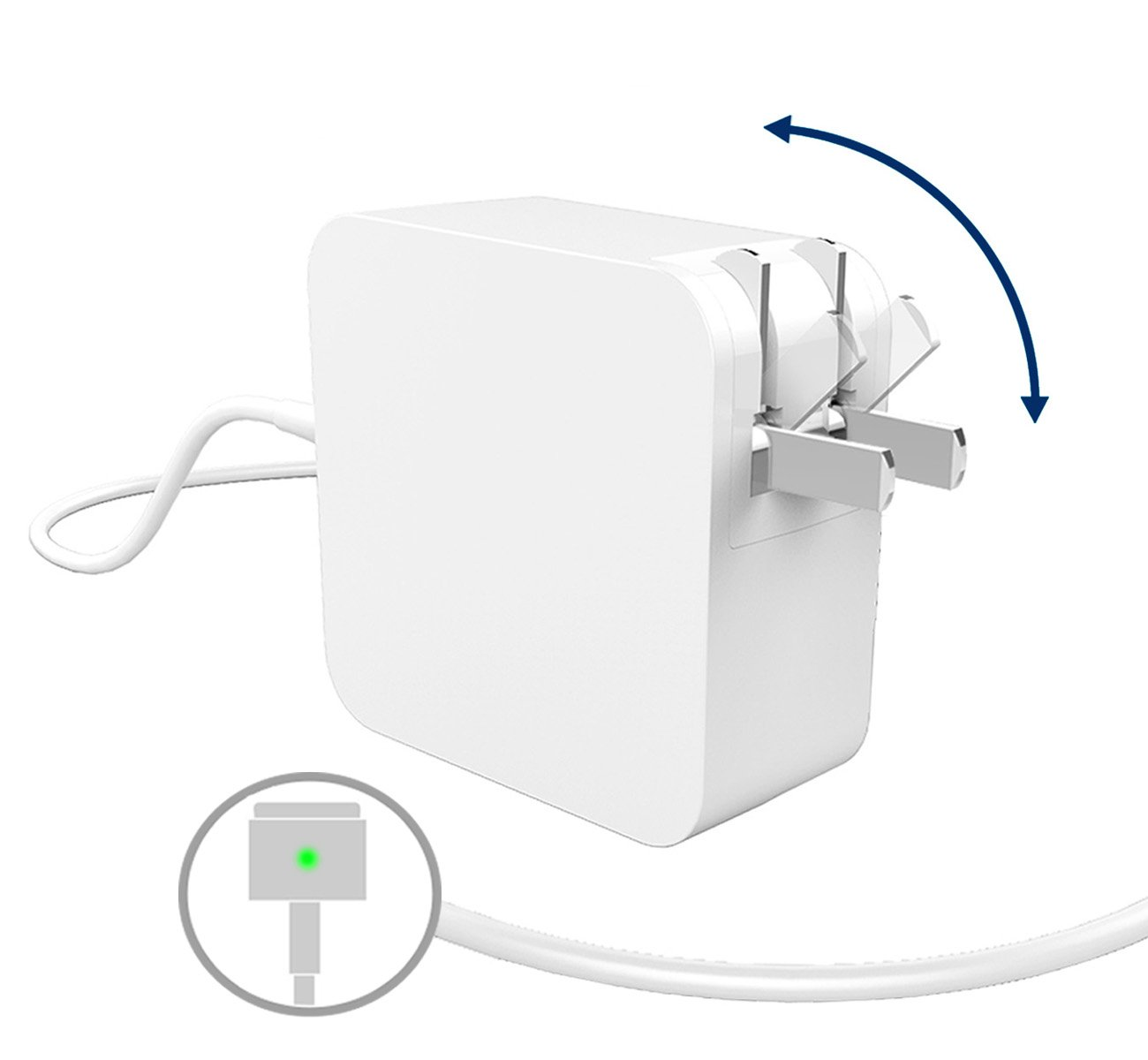 Replacement MacBook Air Charger, 45W MagSafe 2 Adapter, T tip, with 2.5m Extra Long Cable and Foldable Plug for Apple Macbook Air A1466/A1465/A1436, Macbook Air 11 inch & 13 inch (after 2012), Portabl