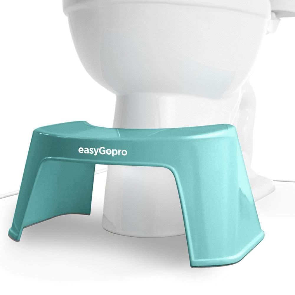 easyGopro Go Time Just Got Easier 7.5'' Bathroom Toilet Stool for All Ages | One Size | Compact | Blue by easyGopro go time just got easier