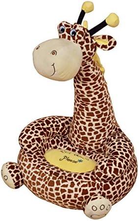 Los niños de peluche jirafa Sentado silla – disponible en Rosa o marrón – Entrega gratuita, marrón: Amazon.es: Hogar