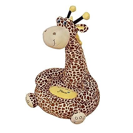 Los niños de peluche jirafa Sentado silla – disponible en Rosa o marrón – Entrega gratuita