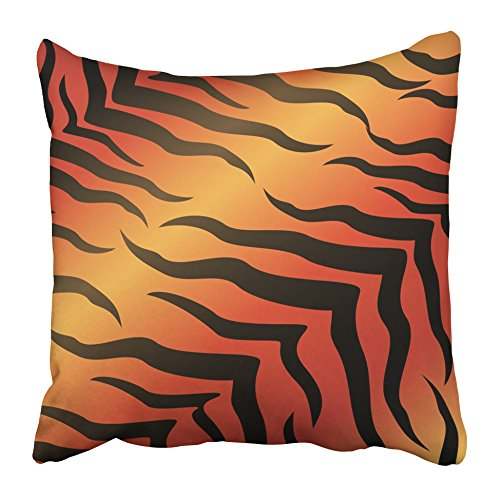 Emvency Throw Pillow Covers 18 x 18 Inches Black 2010 Abstract for Design Brown Africa African Animal Big Border Cat Designer Pillow Case Decorative Cushion Cover Two Sides Print Pillowcase