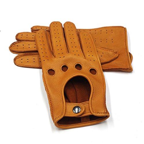 b282508f4 Harssidanzar Mens Leather Driving Gloves Deerskin Unlined - Buy ...