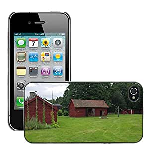 Etui Housse Coque de Protection Cover Rigide pour // M00170916 Suecia Granja Rural Rustic Barn House // Apple iPhone 4 4S 4G