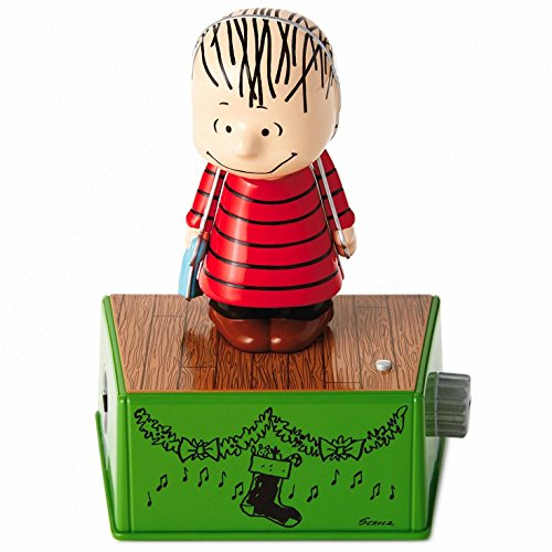 - Peanuts Linus Christmas Dance Party Figurine With Music and Motion Figurines