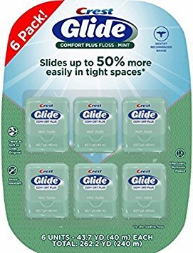 Glide-Crest Dental Floss (12 pack) by Oral-B Glide Pro-Health Comfort Plus Floss (12 pack)