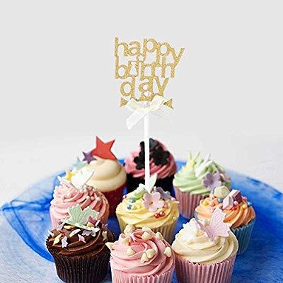 Amosfun 20 Destellos,Feliz cumpleaños,Feliz cumpleaños,Torta ...