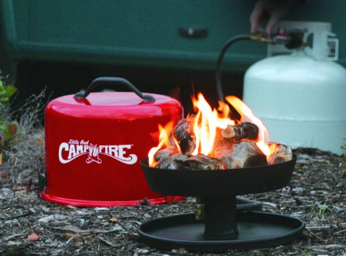 """Camco 58031 """"Little Red Campfire"""" Portable Propane Camp Fire"""