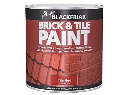 Blackfriar BKFBTMR500 Brick and Tile Paint, 500 ml, Matt Red Toolbank