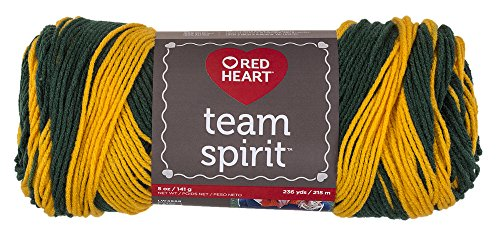 Red Heart  Team Spirit Yarn, Green/Gold (E797.0948) (Gold Green Red)