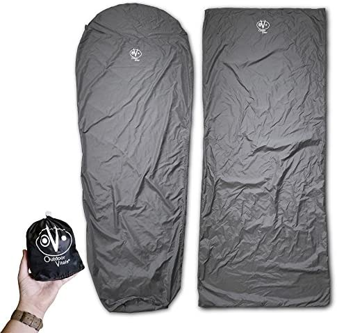WINNER OUTFITTERS Down Sleeping Bag with 2 Compression Sack, Portable and Lightweight Mummy Sleeping Bag for 3-4 Season Camping, Hiking, Traveling, Backpacking and Outdoor Activities