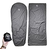 Outdoor Vitals Sleeping Bag Liner (Charcoal, Mummy / Micro Polyester)