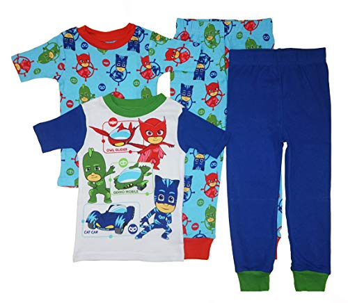PJ Masks Little Boys' Toddler Four-Piece Pajama Set (2T) ()