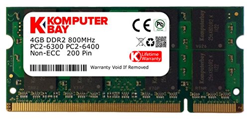 Ddr2 800 1gb Original Memory - Komputerbay 4GB DDR2 SODIMM (200 pin) 800Mhz PC2 6400 / PC2 6300 CL 6.0