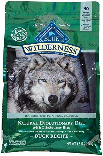 Cheap Blue Buffalo Wilderness Grain Free Dry Dog Food, Duck Recipe, 4.5-Pound Bag