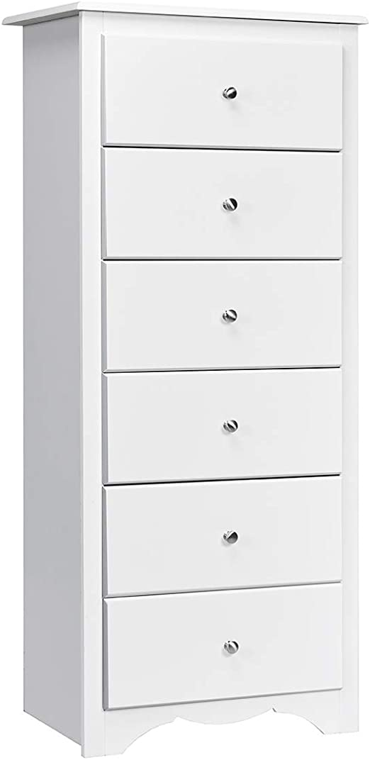 3 Drawer Chest Dresser W Door White Wood Organizer Storage Bedroom Metal Glides
