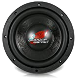 Lanzar Car Subwoofer Audio Speaker - 8in Black Non-Pressed Paper Cone, Die Cast Aluminum Basket, 4 Ohm Impedance, 600 Watt Power and Rubber Surround for Vehicle Stereo Sound System - DCTS84