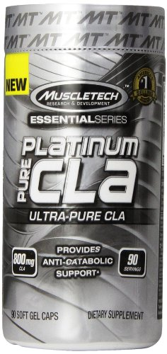 MuscleTech Platinum Pure CLA, Ultra-Pure CLA, 800mg of CLA p