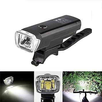OUTERDO 600 lúmenes LED Luz de Bicicleta wiederaufladbares Faro Luz Frontal IPX4 Impermeable Bicicleta de aleación de Aluminio fácil de Instalar y ...