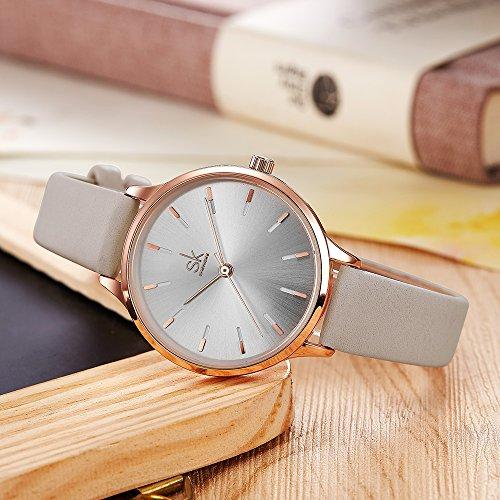5c373af13 ... SK Woman Fashion Quartz Watch Elegant Diamond Wristwatch Girls  Ultra-Thin Waterproof Wrist Watches ...