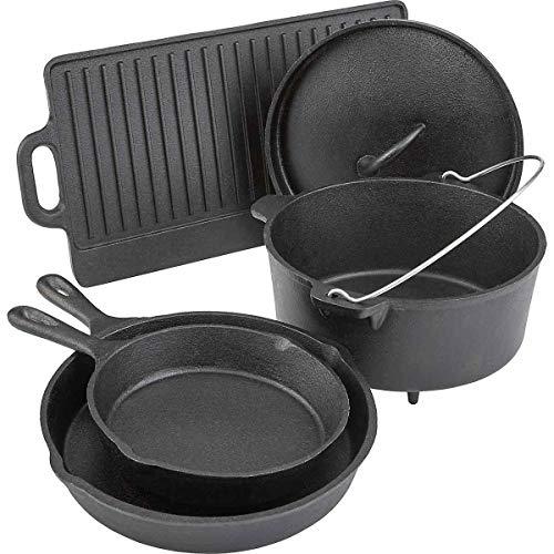 Outdoor Gourmet 5 Piece Cast Iron Cookware Set (Cookware Set Iron)