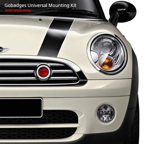 GoBadges LC0037 3D Mini RED 01-3 Magnetic Acrylic Layered Grill Badge//UV Stable /& Weather-Proof//Works Grill Badge Holder