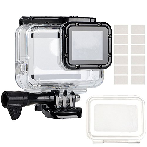 GreatCool Gopro Hero 5/6 Waterproof Housing Underwater Case Dive with Touch Coverlens and Anti Fog Inserts Accessories Kit