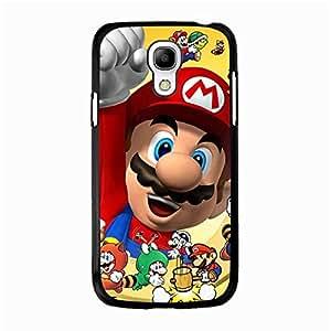 Comic Design Cover Shell Cartoon Super Mario Phone Case Snap on Samsung Galaxy S4 Mini Cute Graceful Mario Anime Pattern Cover Case