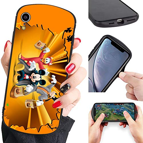 DISNEY COLLECTION Shield Phone Case for iPhone Xr Donald Duck Mickey Mouse Goofy Bumper Cartoon Cute Scratch Shock Absorption Protective Cover Hard Plastic -
