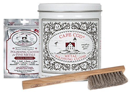 Cape Cod Metal Polishing Bundle Variety Pack (1 Pouch, 1 Tin, 1 Brush) by Cape Cod Polish