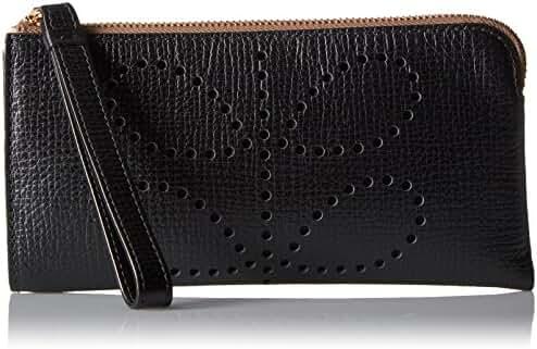 Orla Kiely Punched Stem Flat Zip Wallet