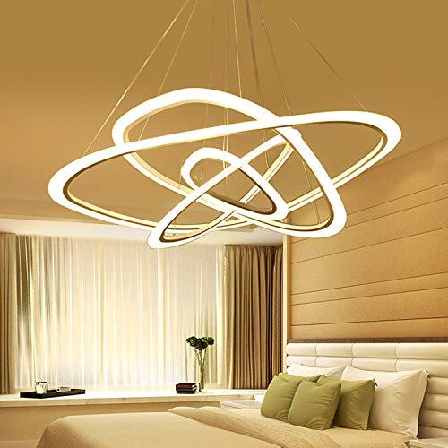 Yloty D100 llevada Moderna 4 Circular Ara/ña Restaurante Sala Luz Creativa /× H120cm sin Pasos de atenuaci/ón con Blanco de Control Remoto