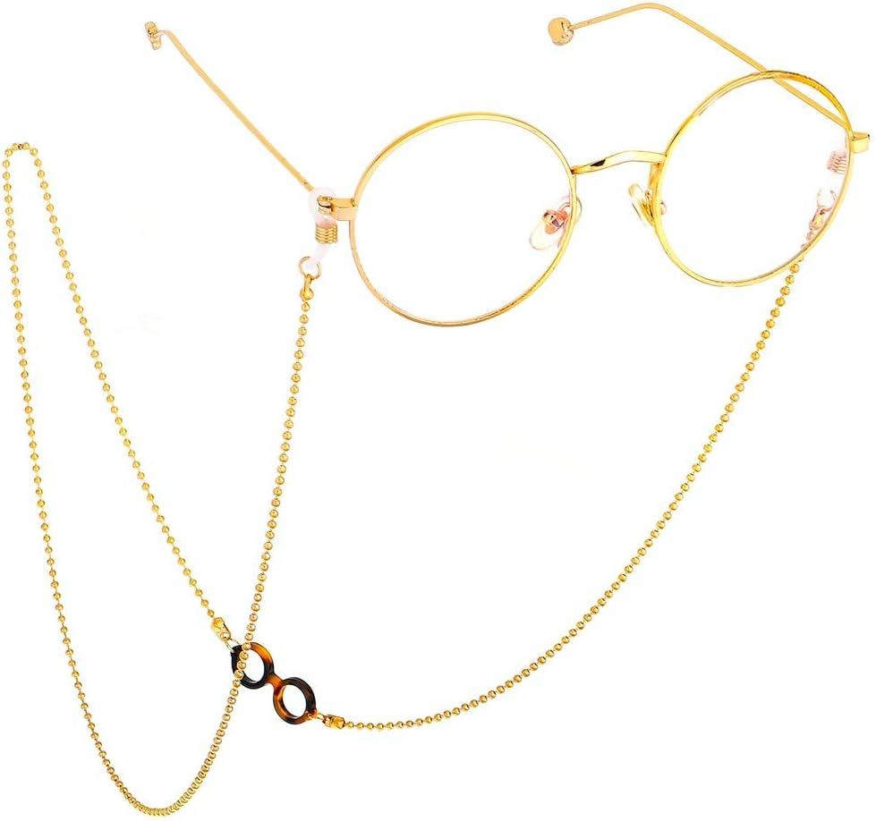 Qualit/à Premium in acciaio inox catena Winomo antiscivolo sole occhiali catena serpente gomene Neck Strap occhiali supporto