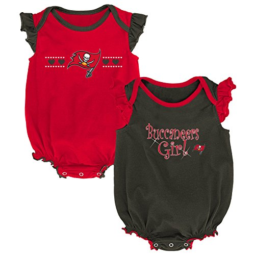 Unique Red Combo - NFL by Outerstuff NFL Tampa Bay Buccaneers Newborn & Infant Homecoming Bodysuit Combo Pack Red, 18 Months