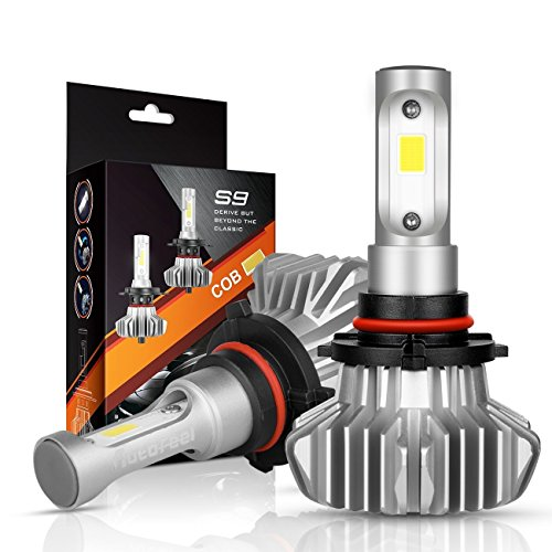 Series Headlamp - AutoFeel 9006/HB4 LED Headlight Bulbs Hi/Lo Beam Conversion Kit, S9 Series Super Bright 12xCSP Chips LED Automotive Headlamp 6000K Xenon White (2 Pack)