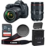 Canon EOS 6D Mark II 26.2 MP CMOS Digital SLR Camera with 3.0-Inch LCD with EF 24-105mm f/4L IS II USM Lens - Wi-Fi Enabled (Certified Refurbished)