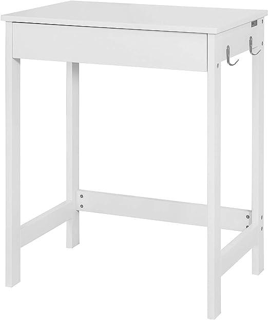 SoBuy® Mesa de escritorio, Mesa de ordenador con un cajón y 2 ...