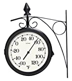 Lacrosse 104-730 8'' Dual Outdoor Clock & Thermometer