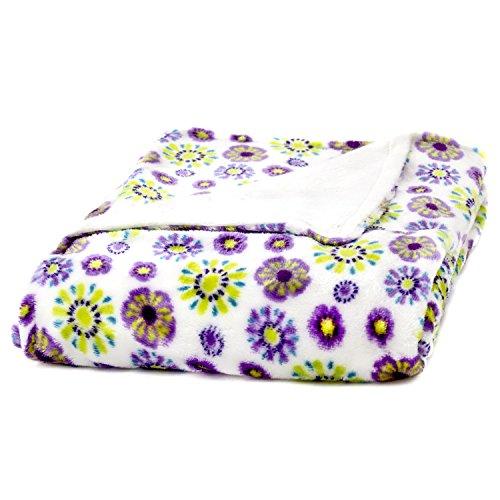 Cozy Fleece Blanket Purple Floral product image