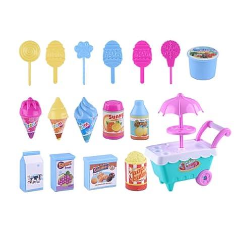 little finger Pequeño Dedo Lovely Simulación Candy Lollipop Ice Cream Carrito de plástico para niños niñas