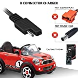 PwrON B Connector Charger for Disney Quad Pacific Cycle Marvel The Avenger Good Dinosaur Princess Fairies Minnie Mouse Frozen CAR McQueen & Other Quad ATV 6V Battery Ride ON Walmart Target Toy R US
