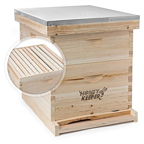 Honey Keeper Beehive 20 Frame Complete Box Kit (10 Deep and 10 Medium)...